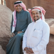 Atallah and Abdallah, the two owners of Wadi Rum Caravan Camp.