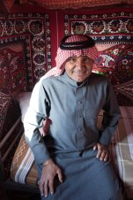 Atallah, one of the two camp owners, in one of the tents.