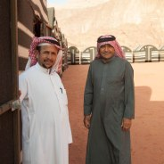 Atallah and Abdallah, the two camp owners at Wadi Rum Caravan Camp.