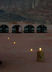 Nighttime in Wadi Rum Caravan Camp.
