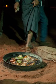 A Bedouin barbecue.